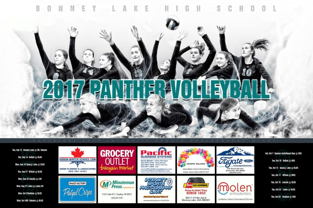 Bonney Lake High School Panther Volleyball Team Composite
