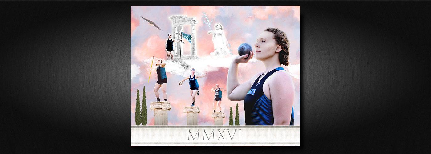 Bonney Lake Track and Field Panthers Sam Senior Day 20x24 Print Sports Art